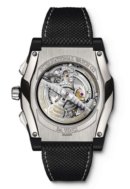 IWC Da Vinci Chronograph Ceramic Watch IW376601 Caseback