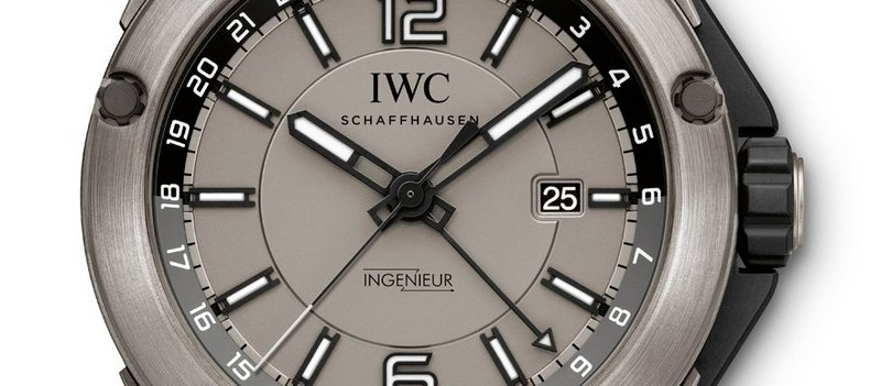 IWC Ingenieur Dual Time Titanium Watch Dial