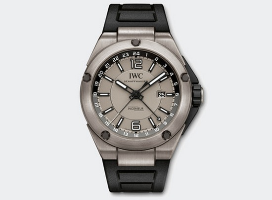 IWC Ingenieur Dual Time Titanium Watch Front