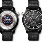 IWC Pilots Watch Double Chronograph Edition Top Gun Front and Back