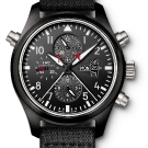 IWC Pilots Watch Double Chronograph Edition Top Gun Front
