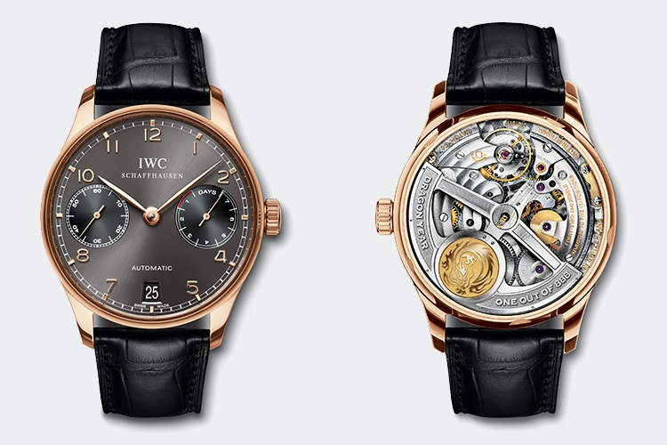 IWC Portuguese Automatic Edition Dragon Year Watch Front and Back