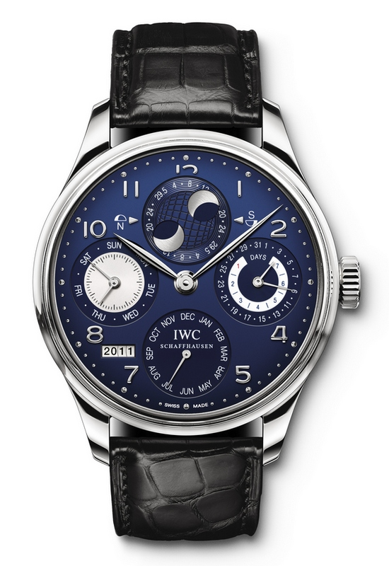 Perpetual Calendar Watch : Iwc portuguese perpetual calendar double moonphase watch