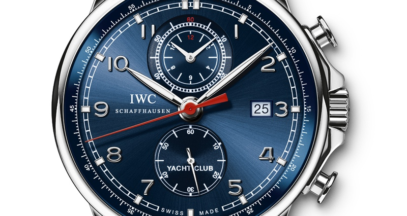 IWC Portuguese Yacht Club Chronograph Laureus Sport for Good Foundation Edition 2013 Watch Dial