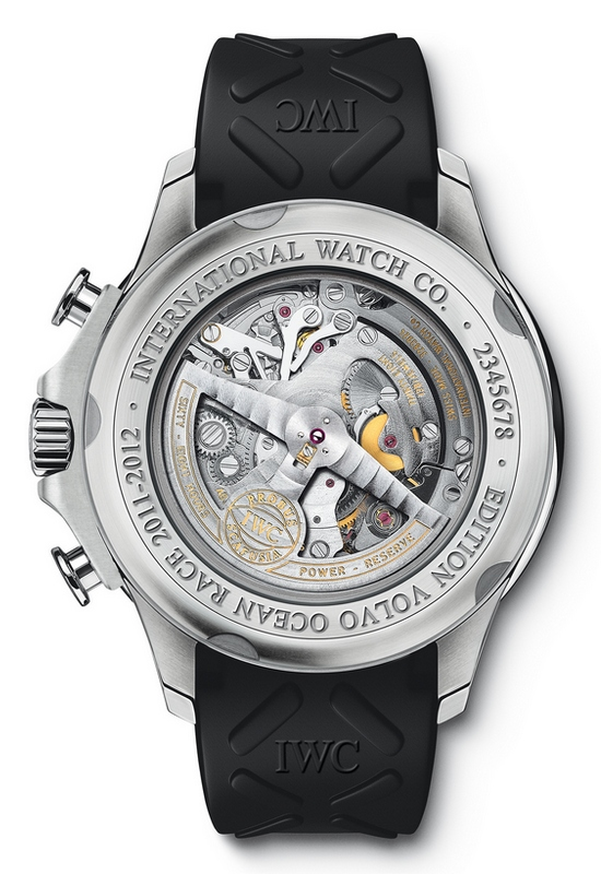 "IWC Portuguese Yacht Club Chronograph Watch Edition ""Volvo Ocean Race 2011-2012"" IW390212 Caseback"