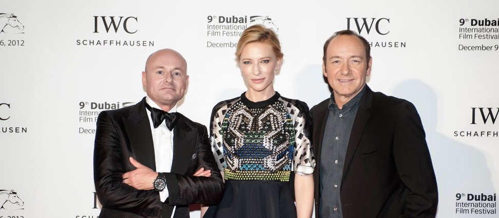 Georges Kern with Cate Blanchett and Kevin Spacey
