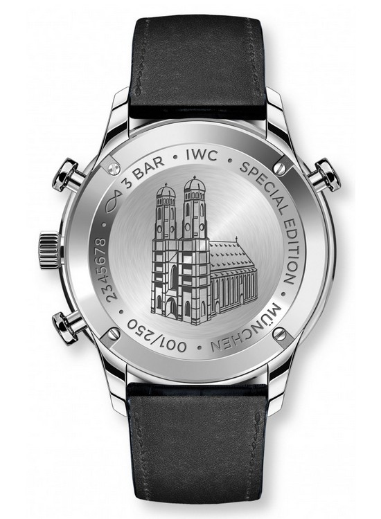 "IWC Portugieser Chronograph Rattrapante Edition Boutique ""Munich"" Case Back"