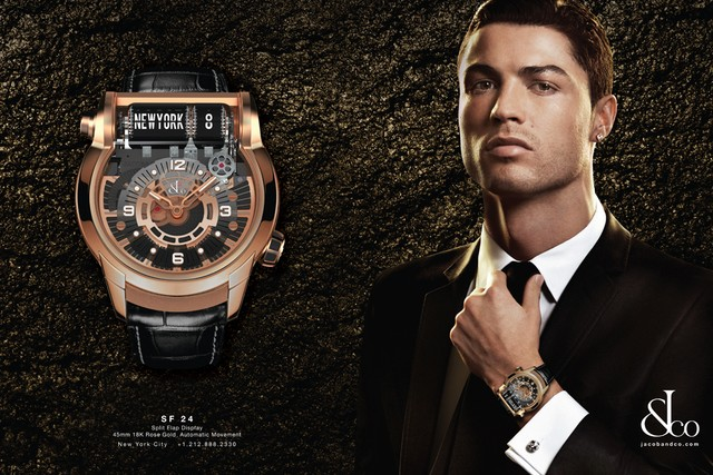 Jacob & Co Launched new Epic SF 24 GMT Watch Cristiano Ronaldo