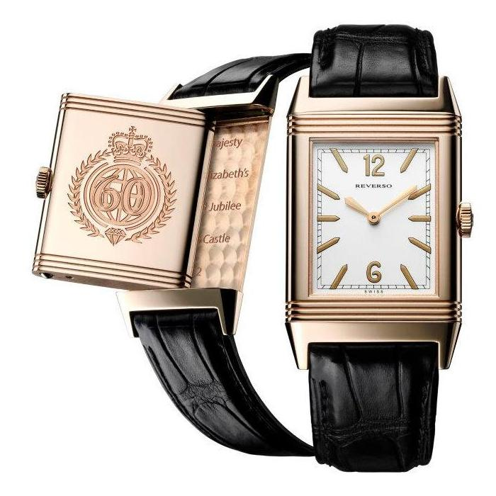 jaeger diamond accessories alligator watch gold and reverso watches duetto medium lecoultre rose multicolor classic lyst