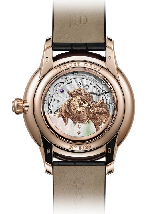 Jaquet Droz Petite Heure Minute Relief Rooster Watch Back J005023282