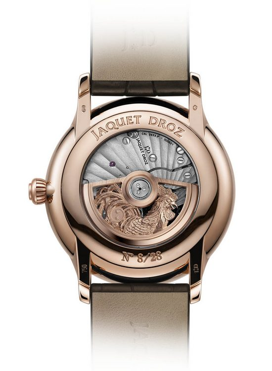 Jaquet Droz Petite Heure Minute Rooster Watch Back J005013216