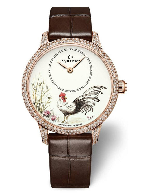 Jaquet Droz Petite Heure Minute Rooster Watch J005003222