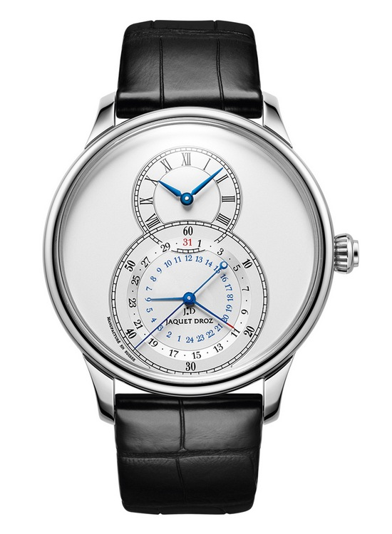 Jaquet Droz Grande Seconde Dual Time Silver Watch