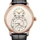 Jaquet Droz Grande Seconde Dual Time Ivory Enamel Watch