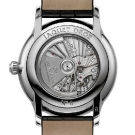 Jaquet Droz Grande Seconde Dual Time Silver Watch Case Back
