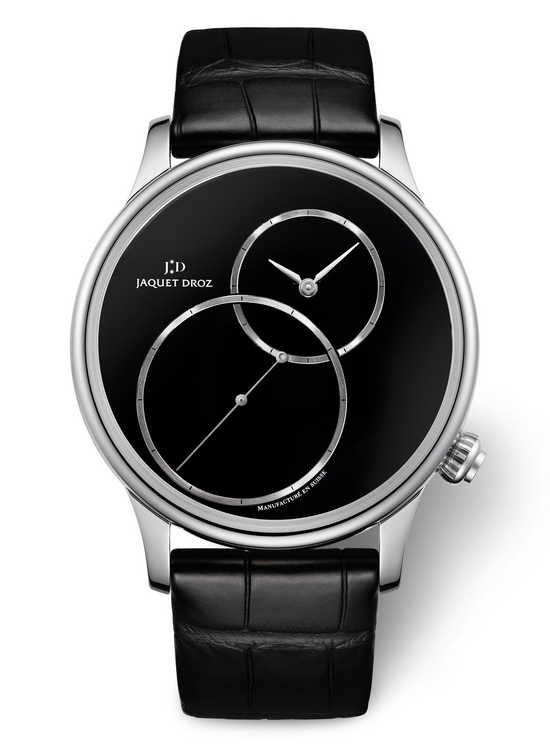 Jaquet Droz Grande Seconde Off-Centered Onyx Watch Front