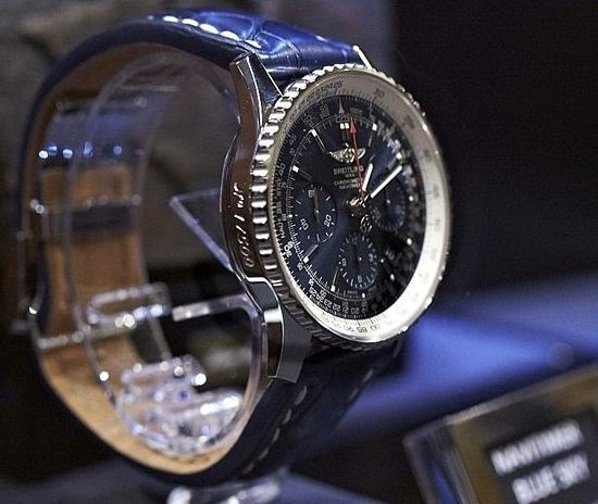 Breitling Navitimer Blue Sky Limited Edition Watch Side