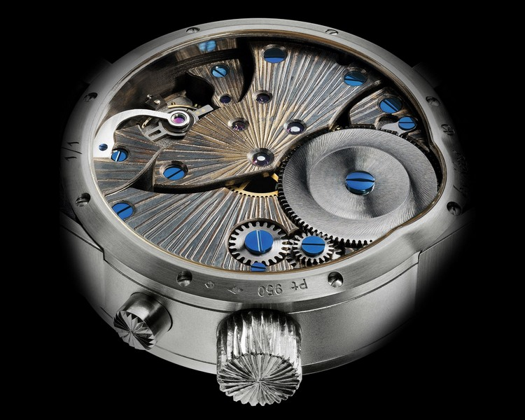 Kees Engelbarts Platinum Tsuba Watch Movement