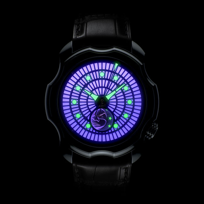 Sarpaneva Korona K01 Northern Lights Violet Watch Night