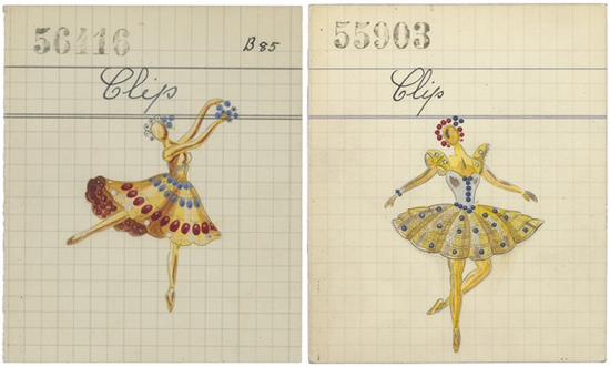Van Cleef & Arpels Drawing of Dancer Clip