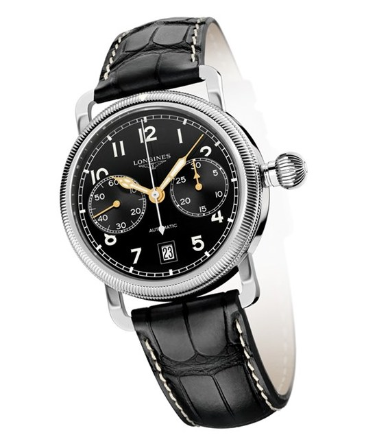 Longines Heritage Avigation Oversized Crown Chronograph Watch