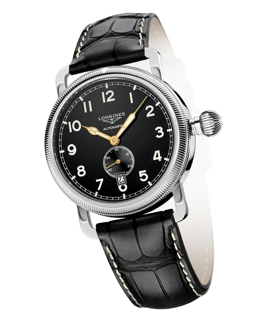 Longines Heritage Avigation Oversized Crown Small Seconds Watch