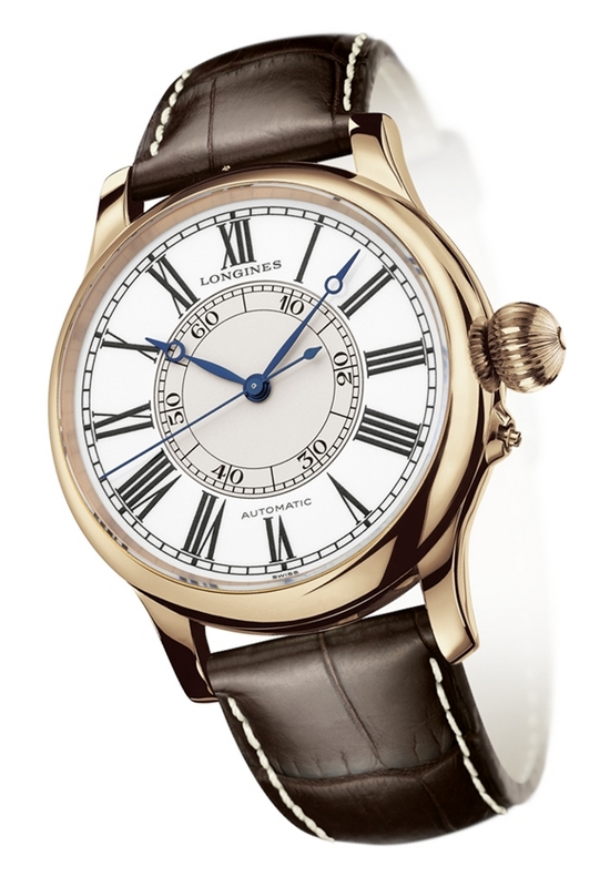Longines Heritage Weems Second-Setting Watch Pink Gold