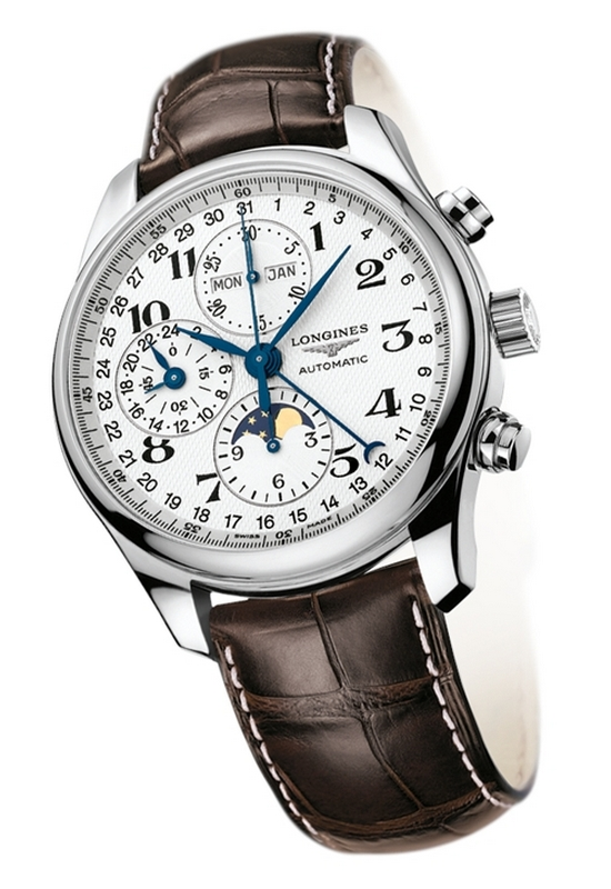 Longines Moon Phase Full Calendar Chronograph Watch L2.673.4.78.3
