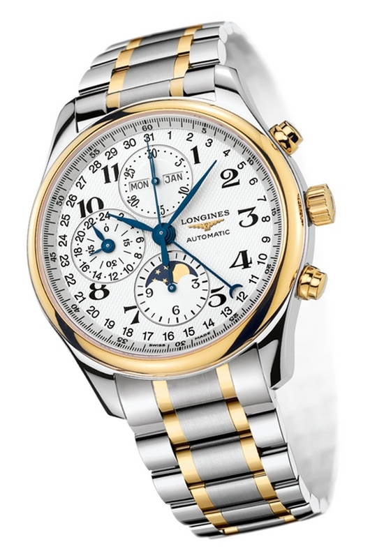 Longines Moon Phase Full Calendar Chronograph Watch L2.773.5.78.7