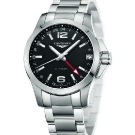 Longinest Sport Conquest 24 Hours Watch Black Dial