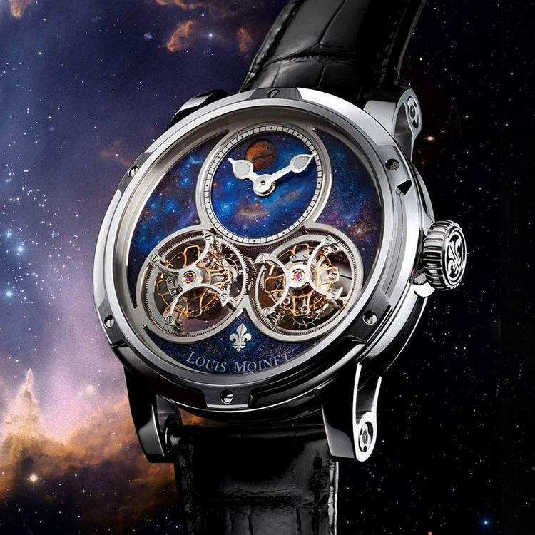 Louis Moinet Sideralis Inverted Double Tourbillon Watch