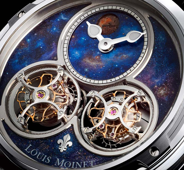 Louis Moinet Sideralis Inverted Double Tourbillon Watch Dial