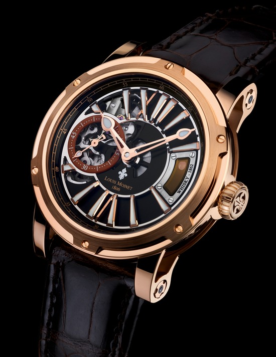 Louis Moinet Whisky Rose Gold Watch