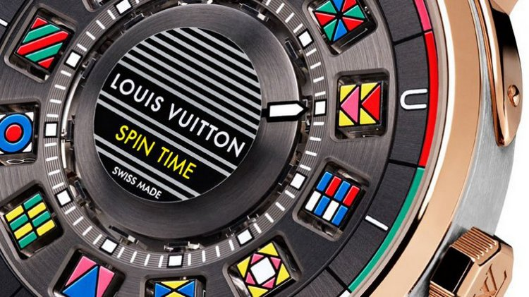Louis Vuitton Escale Spin Time Watch Dial Detail