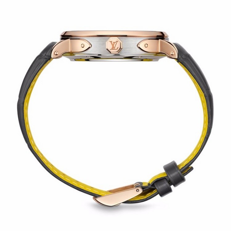 Louis Vuitton Escale Spin Time Watch Pink Gold Profile