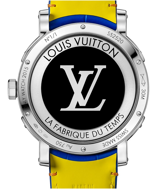 Louis Vuitton Escale Worldtime 2015 Only Watch Case Back