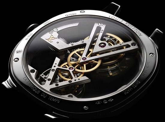 "Louis Vuitton Flying Tourbillon ""Poinçon de Genève"" Watch Back"