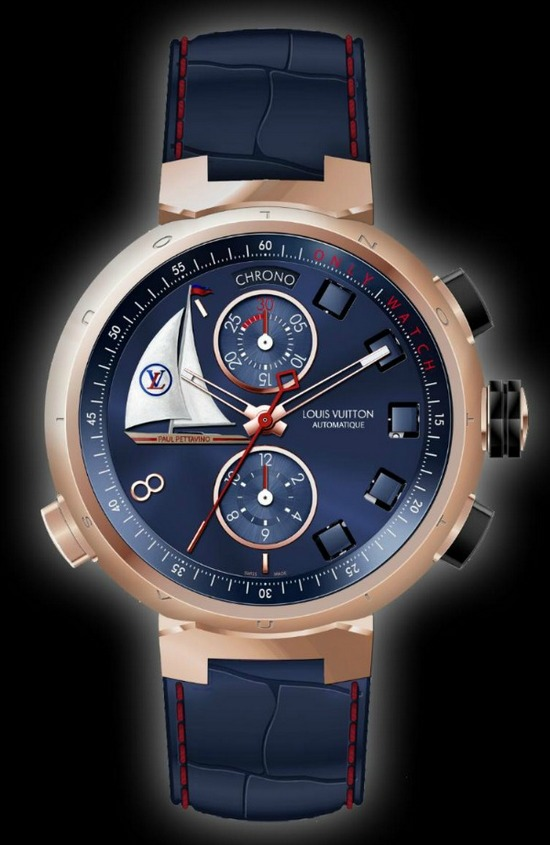 Louis Vuitton Tambour Spin Time Regatta Watch