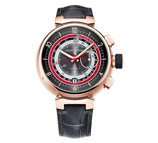 Louis Vuitton Voyagez Tambour Chronograph II Watch Rose Gold