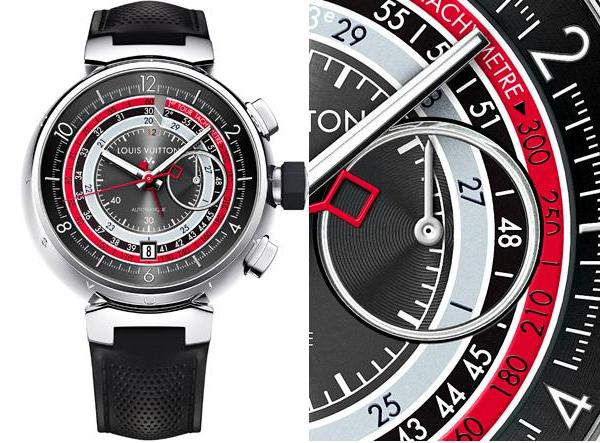 Louis Vuitton Voyagez Tambour Chronograph II Watch Stainless Steel
