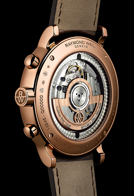 Raymond Veil Maestro Tribute to Raymond Weil Watch Back