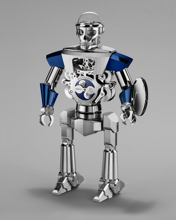 MB&F Balthazar Two-Faced Robot Clock Blue