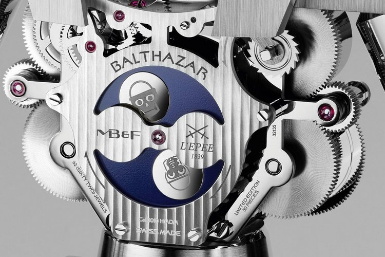MB&F Balthazar Two-Faced Robot Clock Front