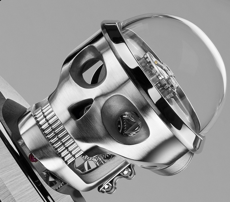MB&F Balthazar Two-Faced Robot Clock Head