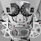 MB&F Balthazar Two-Faced Robot Clock Back