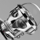MB&F Balthazar Two-Faced Robot Clock Head Front