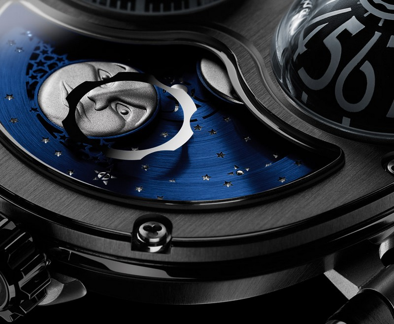 MB&F Performance Art Pieces Moonmachine Limited Edition Watch Detail