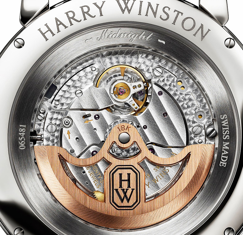 Harry Winston Midnight Monochrome Automatic Watch Case Back