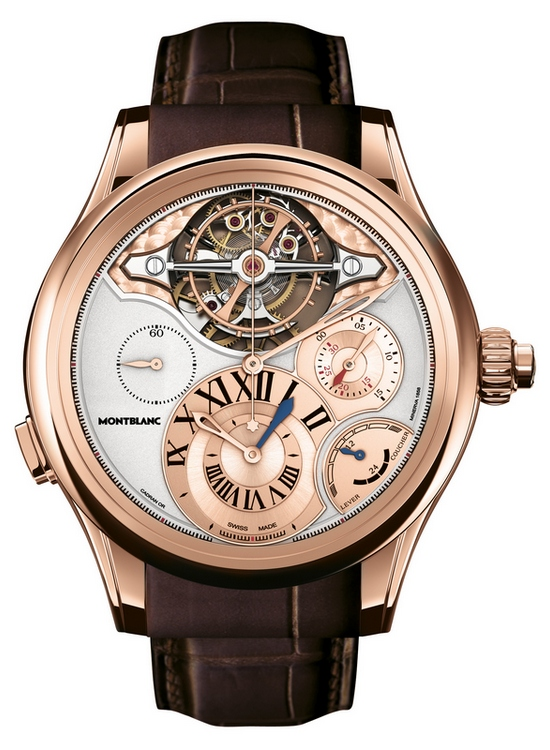 Montblanc Villeret 1858 Exo Tourbillon Chronographe Watch Red Gold