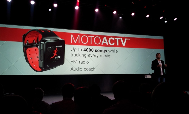 MotoACTV Fitness Music Smart Watch Launch